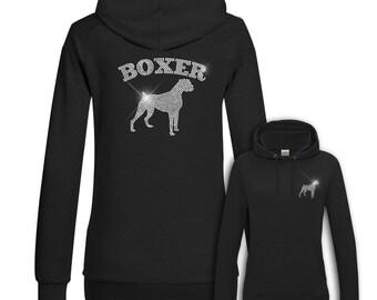 Ladies Hoodie Strass Boxer
