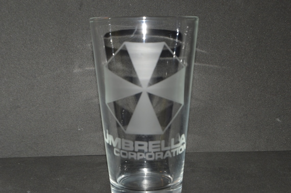 Umbrella resident evil pint glass