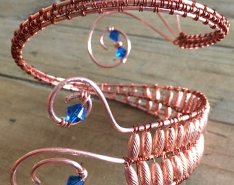 Copper Wire Wrapped Arm Band