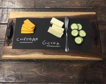 Walnut Chalkboard Serving Tray