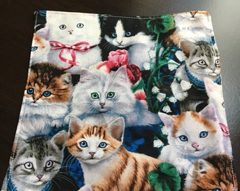 Cat pocket square handkerchief