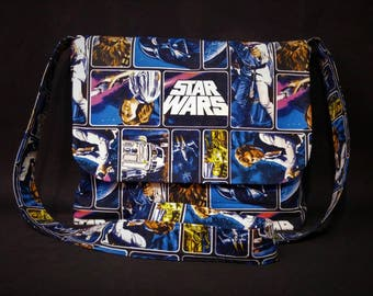 Star Wars Messenger Bag, Cross Body Bag, Metal Free handbag, TAX & SHIPPING INCLUDED