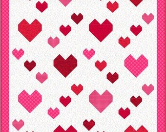 Hearts Aplenty Quilt Pattern - INSTANT DOWNLOAD