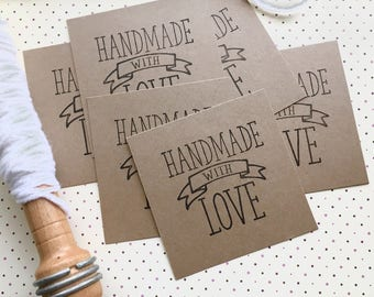 Handmade With Love Tags, Crochet Labels, Knitting Labels, Knitting Tags, Yarn Labels, Handmade Gifts, Set of 30 Gift Tags