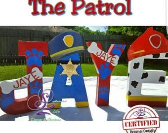 Patrol birthday party, Patrol party decorations, Patrol party ideas, Patrol decorated letters, Patrol decor, Patrol party supplies