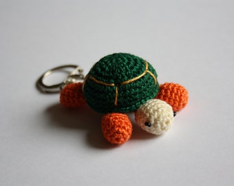 Crochet Turtle Keyring