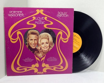 Porter Wagoner Dolly Parton Love And Music vinyl record 70s Country