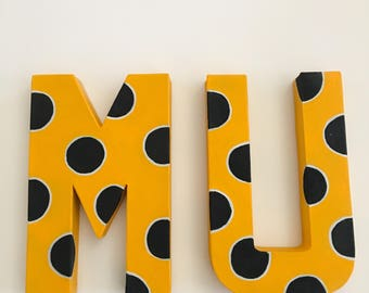 University of Missouri handpainted letters