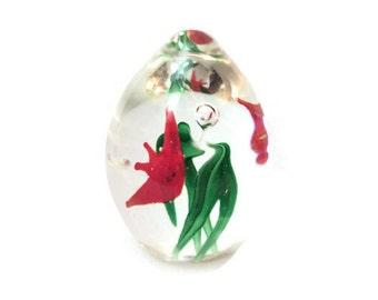Dynasty Gallery ART GLASS Sculpture / Paperweight Heirloom Collectibles / Glass Paper Weight Office Decor / Blown Glass Art Egg