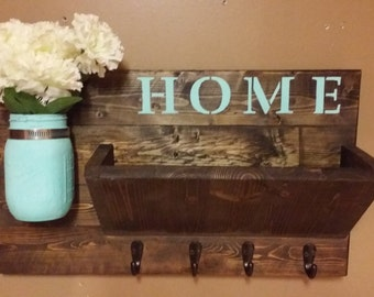 Rustic Mail Holderhome Decor Wooden Mail By Teestransformations