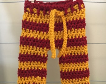 Newborn Harry Potter inspired pants, baby Harry Potter pants, Harry Potter newborn photo prop, Harry Potter baby clothes