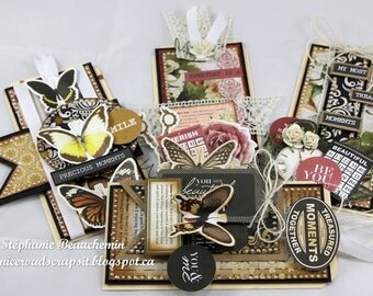 4 Vintage gift tags