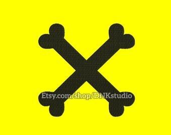 Crossbones Machine Embroidery Design - 5 Sizes - INSTANT DOWNLOAD