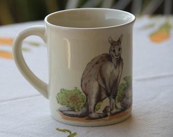 Vintage 1970's Kangaroo mug