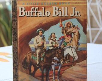 Vintage Little Golden Book Buffalo Bill Jr. 1956