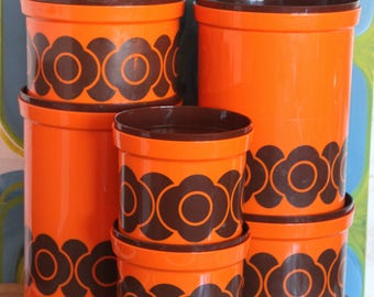 CLASSIC 1970's DECOR 1970 canister set