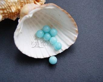 Amazonite Round Ball Beads Blue 8 mm