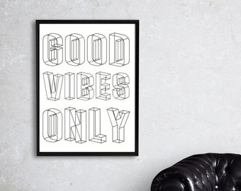 Good Vibes Only, Music Print