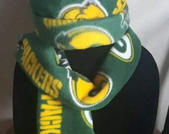 Green Bay Packer Fleece Winter Hat and scarf set
