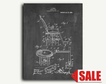 Patent Print - Barber Chair Patent Wall Art Poster