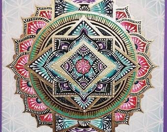 Golden Lotus Mandala