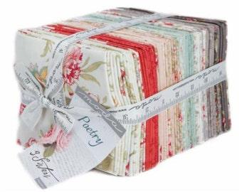 Poetry Prints Fat Quarter Bundle by 3 Sisters for Moda Fabrics. Moda 44130AB