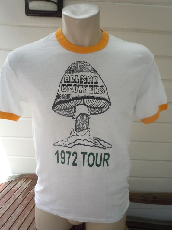 Size L- (45) ** Old Stock Dated 1972 Allman Brothers Shirt (Deadstock Unworn)
