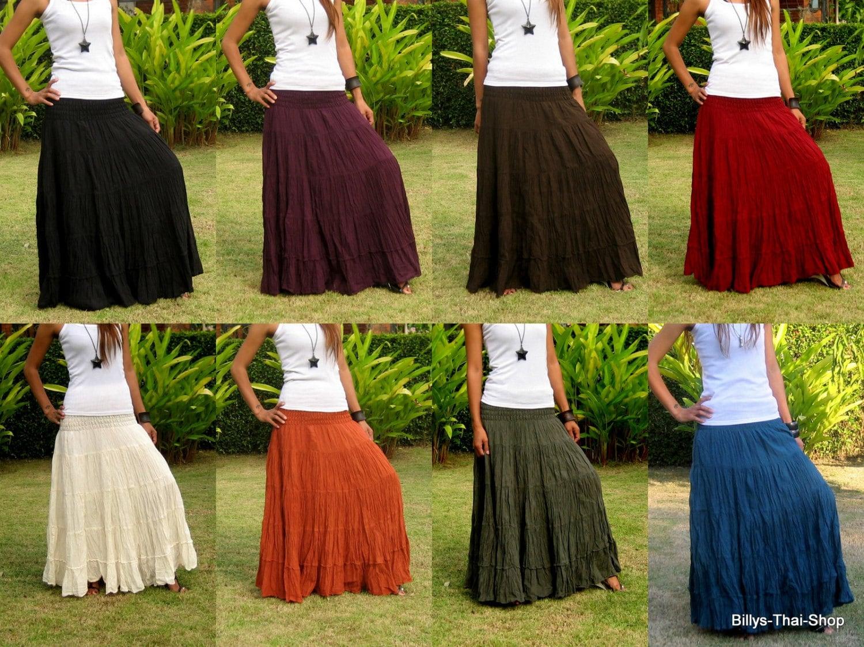 Maxi skirt | Etsy