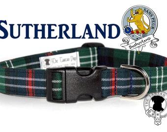 Sutherland Tartan Dog Collar, Clan Sutherland