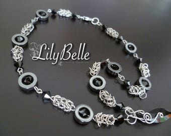 LilyBelle chain-maille necklace