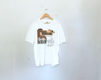 Barry manilow concert t, vintage concert t shirt, 90's box cut, size xl