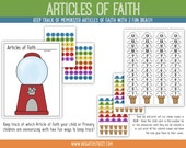 Articles of Faith Charts