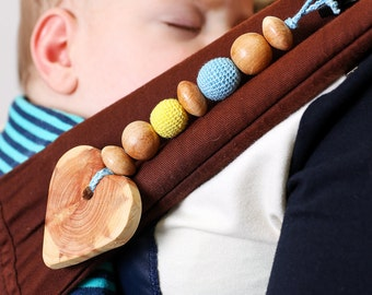Natural Teether for baby juniper heart, teething toy, Organic teethers, Gift for newborn, heart, Wooden Teether Toy, Wooden juniper heart