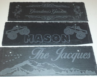 Personalized Black Slate Name Plaques