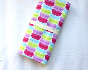 """Pink, Purple, Green, Blue Macaroons Flannel Oversized Receiving Blanket - Baby Girl - 40"""" x 40"""" Swaddle Blanket - Ready to Ship Perfect Gift"""
