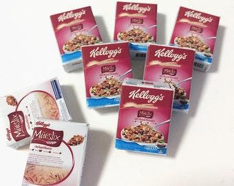 Miniature Cereal Box,Miniature Cereal,Miniature Corn Flakes Box,Miniature breakfast,Dollhouse,Miniature box