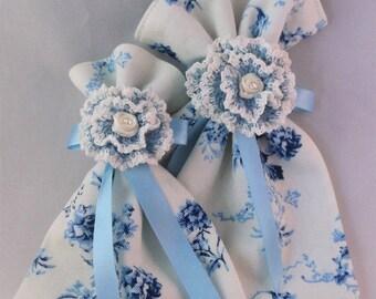 Gift bag, reusable gift bag, fabric gift bag, Embellished Gift Bag