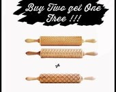 Black Friday **** PROMO *** buy 2  &  get one  FREE ! Engraved Rolling Pins ** Perfet Christmas gift **