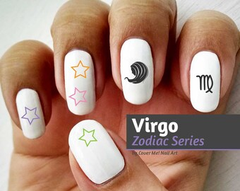 Virgo Zodiac - Water Slide Nail Decals