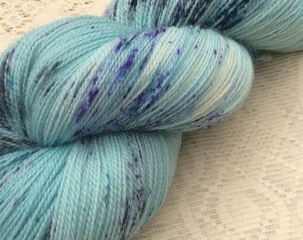 Handpainted Speckled Lace Weight Superwash Merino Knitting Yarn Shawl Yarn