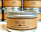 45% OFF WHITE TEA Soy Candle. Natural Candle. Scented Candle. Eco Friendly. Vegan Friendly. Natural Gift. Gift for Her.