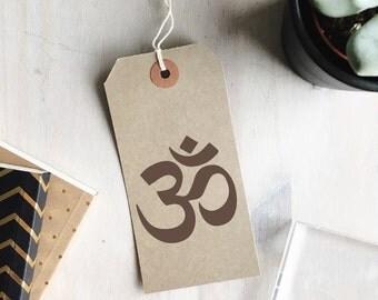 Aum Stamp | Om Symbol - Aum Symbol - Hindu Symbol - Religious Symbol Stamp - Hinduism - Buddhism - Jainism - Sikhism