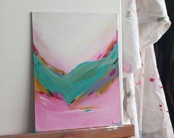 Acrylic Painting Original //  No.51 18x24 cm on Canvas Board by Minaa - ART