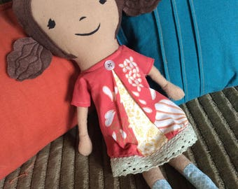 Traditional soft cloth baby doll