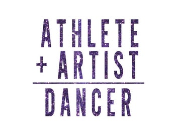 Athlete + Artist Dance Iron On Decal