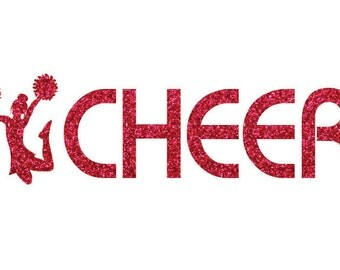 I Cheer Iron On Decal