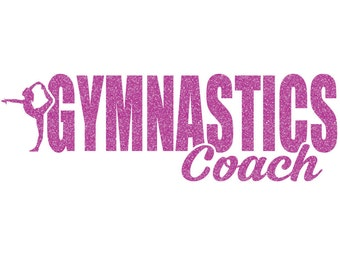 Gymnastics Coach Iron On Decal