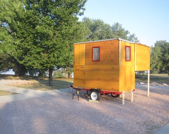 Drawings and instructions how to build a DIY Tiny Camper
