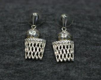 Lovely Set of Screw Back Sterling Silver Vintage Lamp Shape