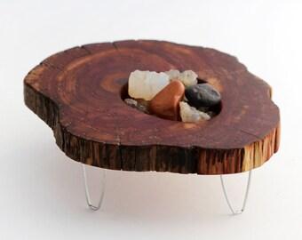 Juniper Slab Rock Table - Modern Luxury Miniature